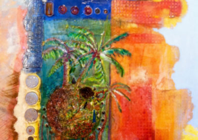 rita-schwab-south-beach-oil-into-highly-textured-fresco-with-inlay-work-30x40-sold