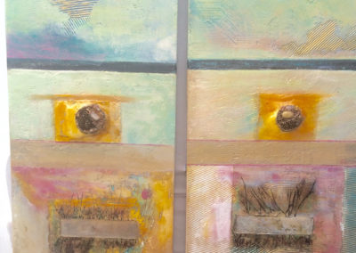 rita-schwab-the-return-of-the-bees-diptych-2-panels-18x36-ea-fresco-in-ois-and-acrylics-partially-resin-finish-bee-hive-inlay-with-crystal-900-00-ea