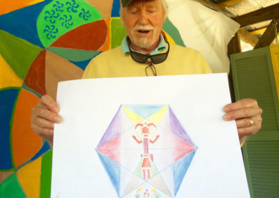 rita-schwab-student-sharing-his-mandala-drawing-experience