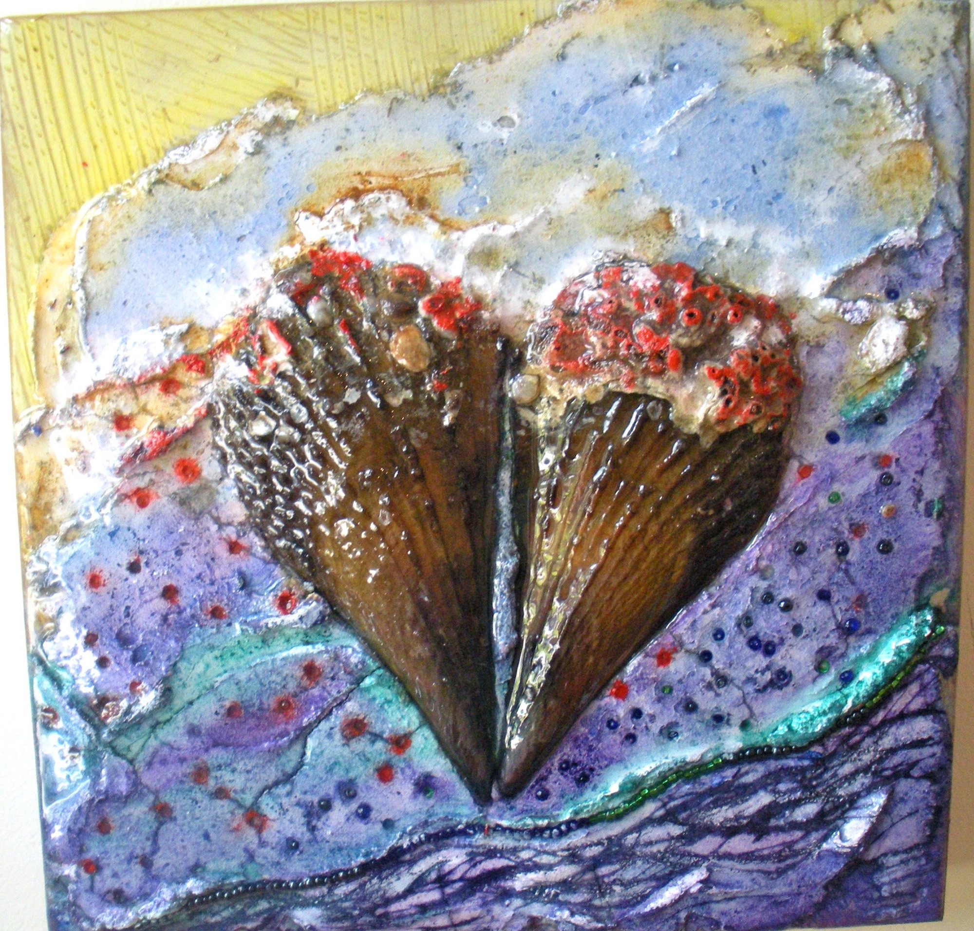 rita-schwab-art-with-a-heart-12x12-fresco-with-shell-inlay-highly-textured-resin-finish-250